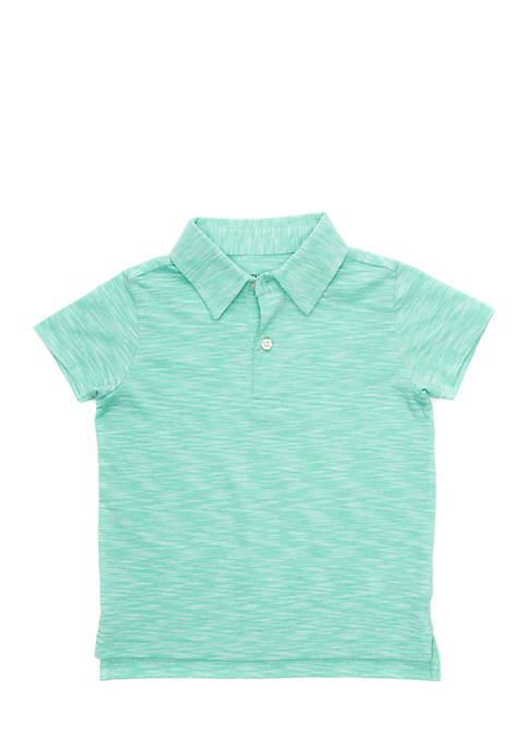 Crown & Ivy™ Toddler Boys Heathered Polo