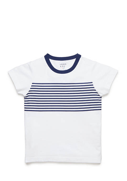 Crown & Ivy™ Horizontal Stripe Tee Toddler Boys