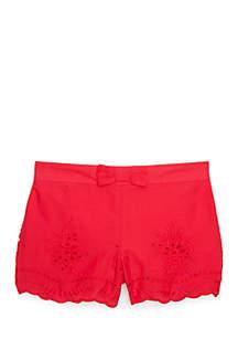 Eyelet Shorts Girls 4-8