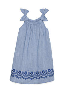Chambray Pillow Dress Toddler Girls