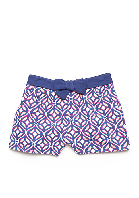 Crown & Ivy™ Toddler Girls Coral Geo Short