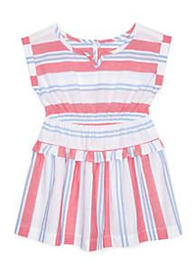 Striped Dress Toddler Girls