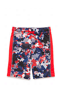 Toddler Boys Inset Panel Active Shorts