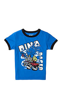 Toddler Boys Short Sleeve Ringer Tee