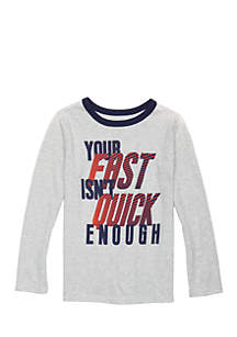 Toddler Boys Long Sleeve Crew Neck Tee