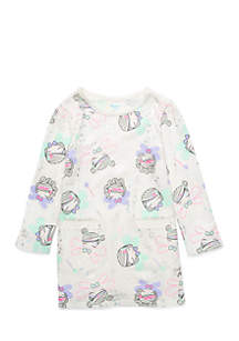 Toddler Girls Long Sleeve Welt Pocket Dress