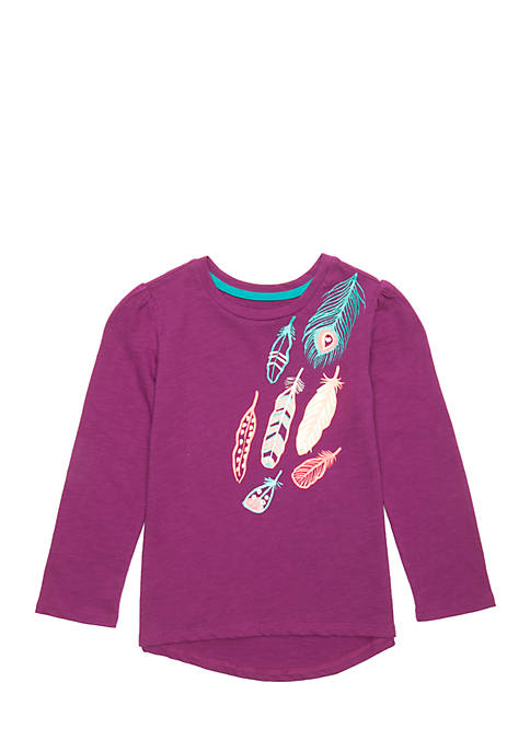 Lightning Bug Toddler Girls Long Sleeve High Low