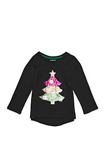 Lightning Bug Toddler Girls Specialty Sequin Tee