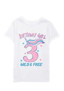 Girls 2-4 Birthday Screenprint Tee