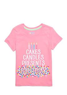 Toddler Girls Birthday Screen Tee