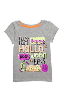 Lightning Bug Infant Girls Short Sleeve Halloween Tee