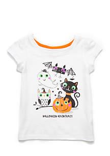 Infant Girls Short Sleeve Halloween Tee