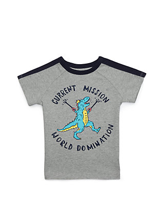 4a0b6b37e Lightning Bug Toddler Boys Short Raglan Sleeve Overlay Tee | belk