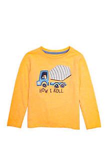 Lightning Bug Toddler Boys Long Sleeve Crew Neck T Shirt