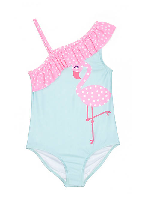 Lightning Bug Toddler Girls One-Shoulder One-Piece Swimsuit