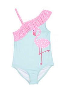 Toddler Girls One-Shoulder One-Piece Swimsuit