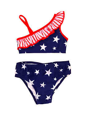 03ffd99cc0 Lightning Bug Toddler Girls Americana Two Piece Swimsuit ...