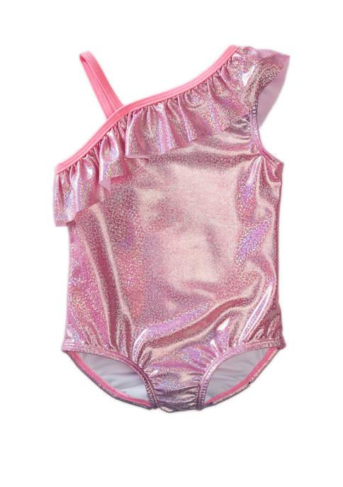 Lightning Bug Toddler Girls Foil Ombre Swimsuit