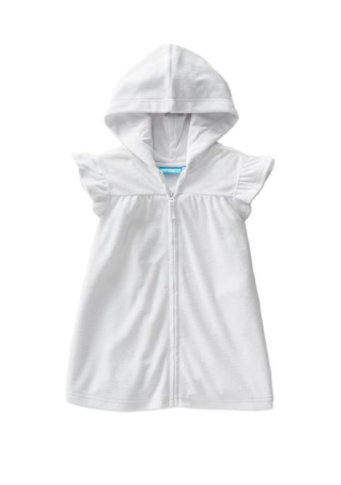 Lightning Bug Toddler Girls Sleeve Terry Swim Cover