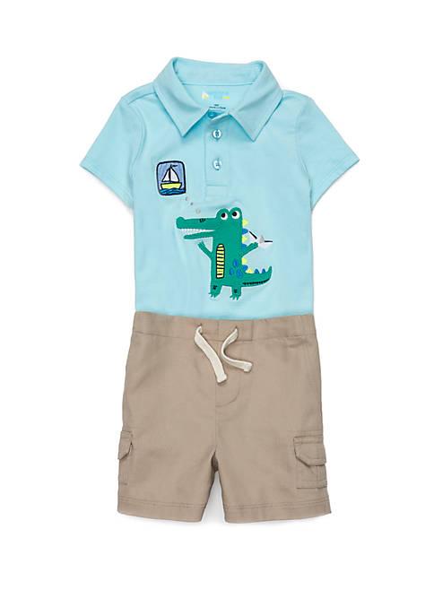 Lightning Bug Baby Boys Polo and Cargo Shorts