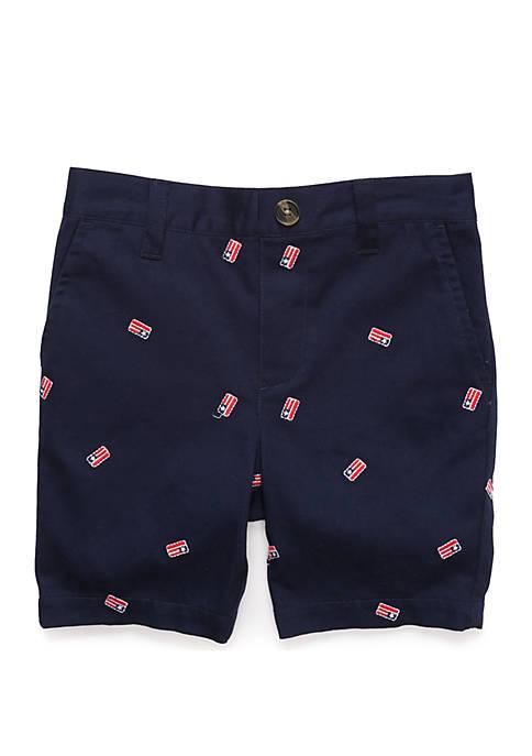 Lightning Bug Toddler Boys Flat Front Shorts