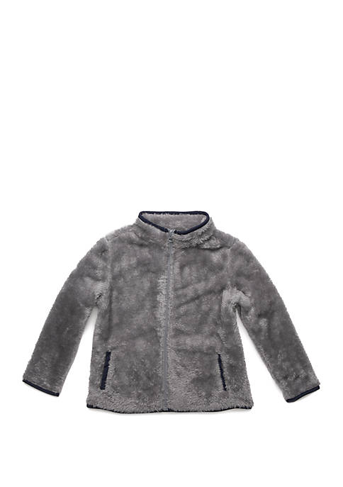 Lightning Bug Toddler Boys Plush Full Zip Jacket