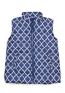 Toddler Girls Printed Puffer Vest