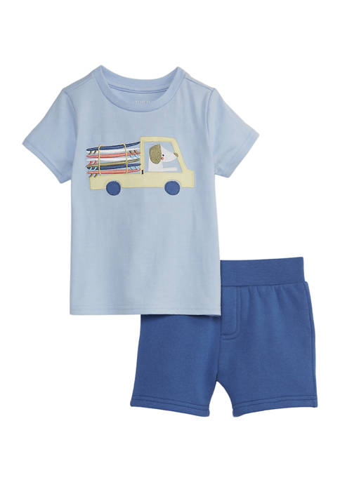 Crown & Ivy™ Baby Boys T-Shirt and Shorts