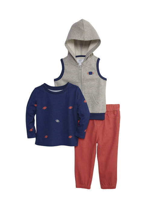 Crown & Ivy™ Baby Boys Hooded Vest and