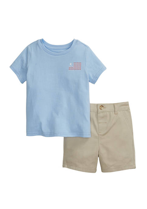 Crown & Ivy™ Baby Boys Graphic T-Shirt and