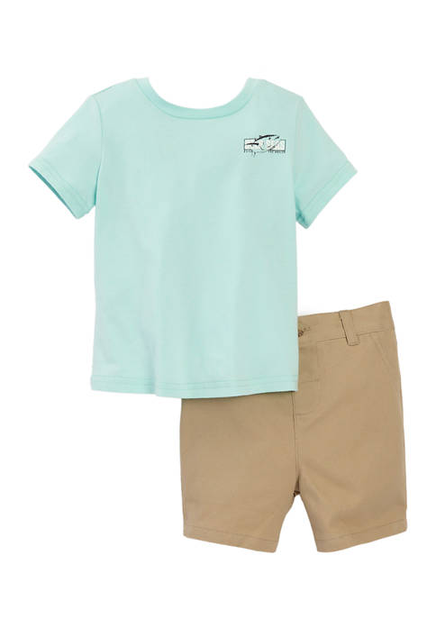Crown & Ivy™: Baby Boys Graphic T-Shirt and Shorts Set! .50 – .00 (REG .00) at Belk!