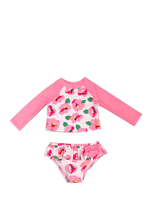 Baby Girls Floral Rash Guard