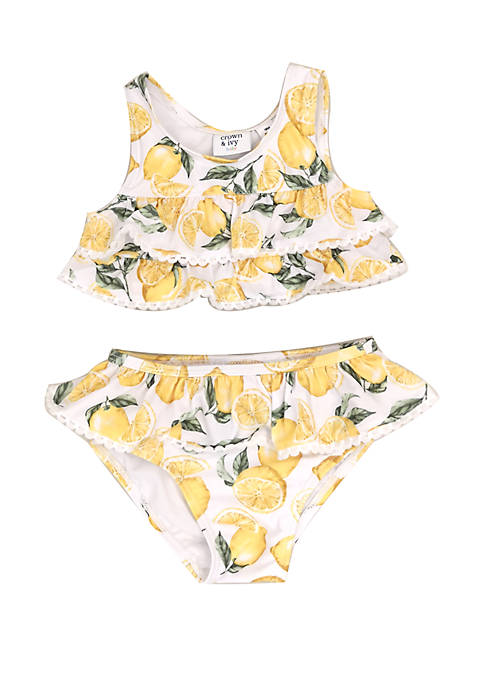 Crown & Ivy™ Baby Girls Lemon Print 2