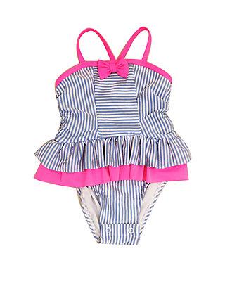 6a8c343c19 Crown & Ivy™. Crown & Ivy™ Baby Girls Blue Seersucker One Piece Swimsuit