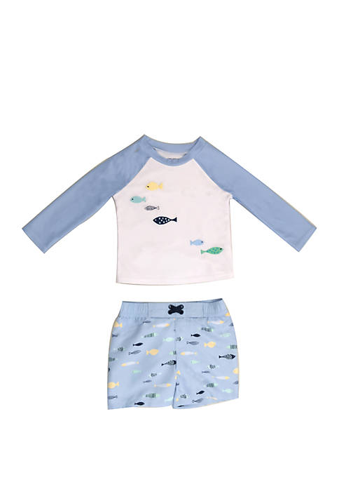 Crown & Ivy™ Baby Boys Fish Swim Set