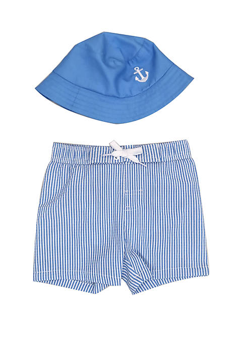Crown & Ivy™ Baby Boys Swim Shorts with