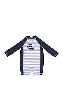 Crown & Ivy™ Baby Boys Rash Guard Swimsuit