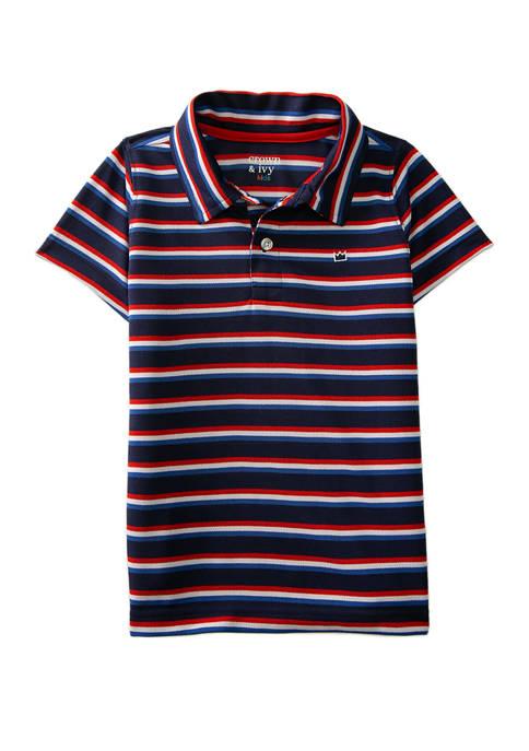 Crown & Ivy™ Toddler Boys Short Sleeve Piqué