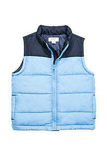 Crown & Ivy™ Toddler Boys Colorblock Puffer Vest