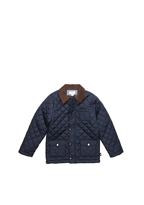 Crown & Ivy™ Toddler Boys Quilted Barn Jacket