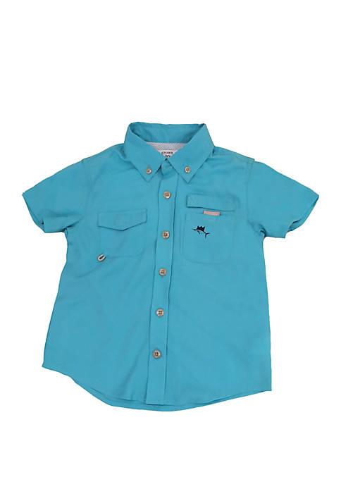 Crown & Ivy™ Toddler Boys Short Sleeve Fishing