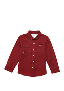 Crown & Ivy™ Toddler Boys Long Sleeve Fishing Shirt