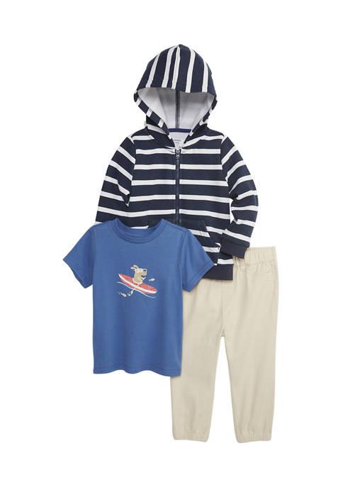 Crown & Ivy™ Toddler Boys Hoodie Set