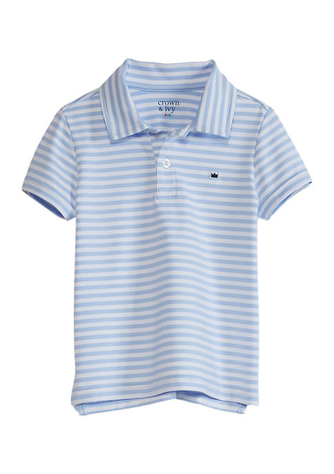 Crown & Ivy™ Toddler Boys Performance Polo Shirt