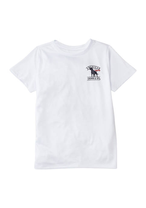 Crown & Ivy™ Toddler Boys Short Sleeve Graphic
