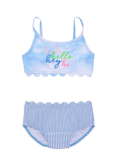Crown & Ivy™ Toddler Girls Scallop Two Piece