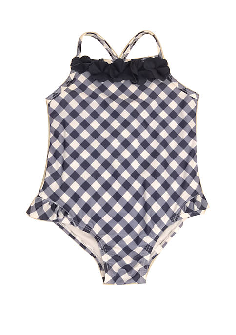 Toddler Girls Gingham One Piece Swimsuit