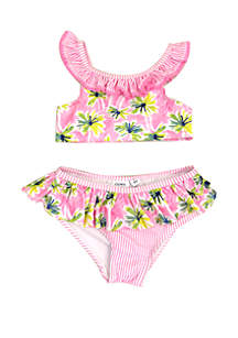 Crown & Ivy™ Toddler Girls Palm Tree Bikini Swimsuit