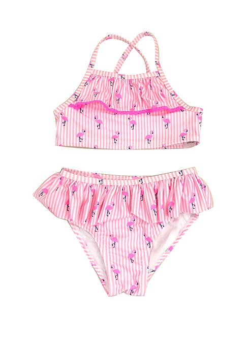 Toddler Girls Flamingo Two Piece Swimsuit