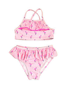 Crown & Ivy™ Toddler Girls Flamingo Two Piece Swimsuit